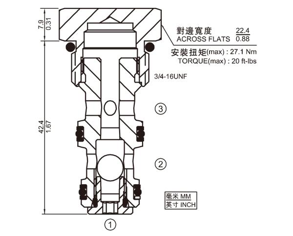 LS08-30 球式梭閥