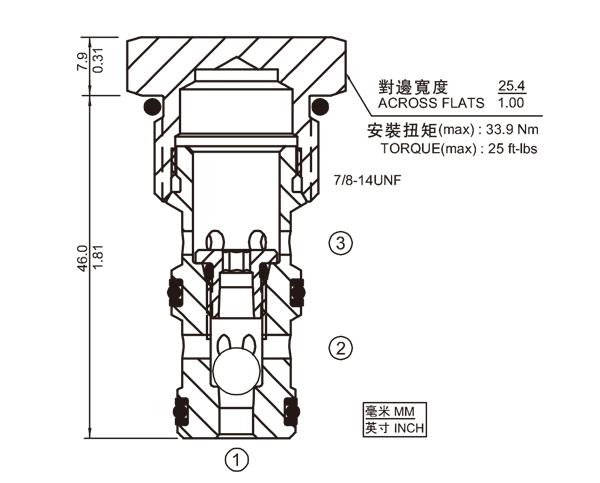 LS10-30 球式梭閥