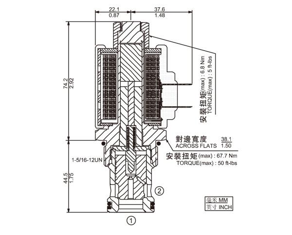 SV16-21 两通常开式锥阀