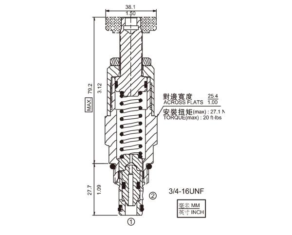 RV08-22 差动式溢流阀
