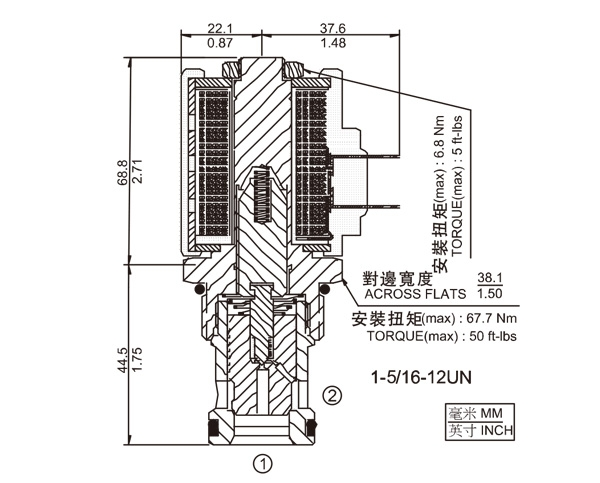 SV16-20 两通常闭式锥阀