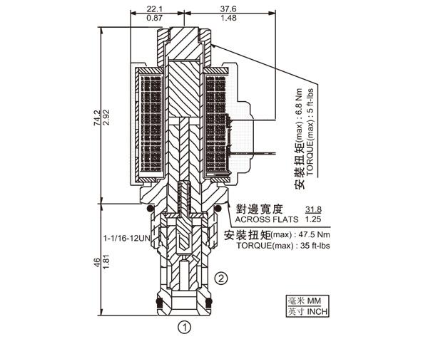 SV12-21 两通常开式锥阀