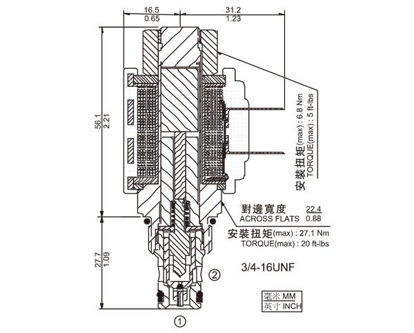 SV08-23  两通常开式锥阀
