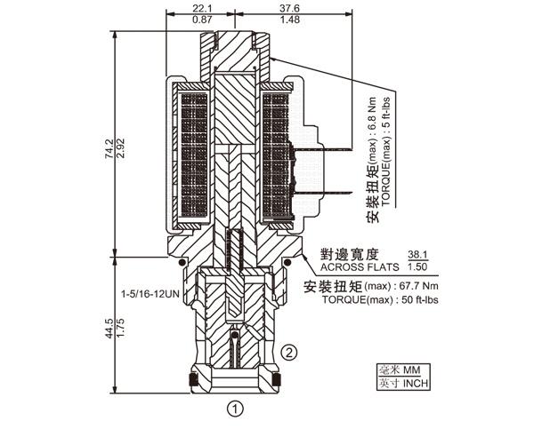 SV16-23 两通常开式锥阀